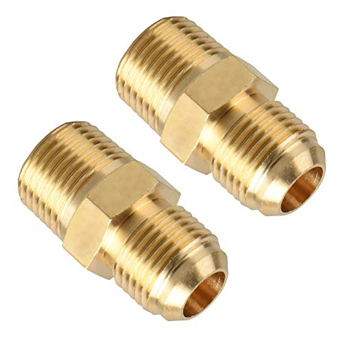 (Brass Tube Fitting, SUNGATOR Half-Union, 3/8 in. Flare x 3/8 in. Male Pipe (2-Pack))