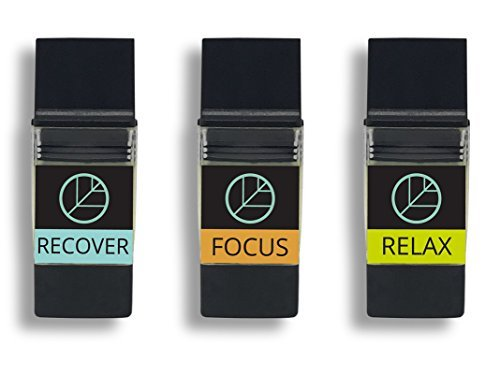 KININ Wellness Pod Refills  Relax, Recover & Focus Pods for Eco Personal Aromatherapy Inhaler  Chamomile, Cinnamon & Eucalyptus Essential Oils for Portable Diffuser