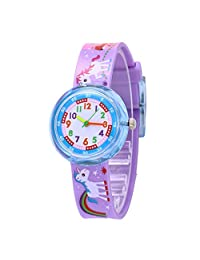 Children Lovely Carton Animal Silicone Strap Colorful Kids Watches, Unicorn