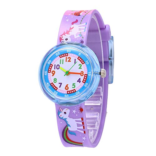 81009af163ac Children Lovely Carton Animal Rainbow Horse Silicone Strap Colorful Kids  Watches