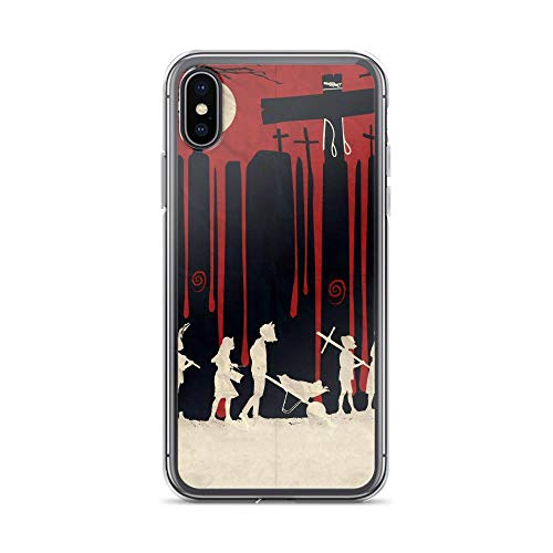 iPhone X/XS Pure Clear Case Cases Cover Creepy Cemetery -