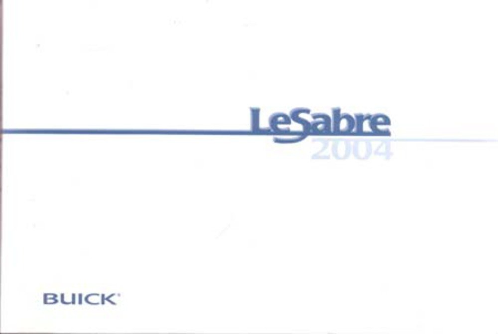 2004 sl operators manual