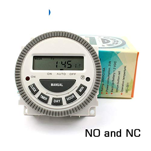 Multipurpose TM619-5J 220V Digital Timer Switch with Output 220V Easy Wiring 7 Days Programmable Time Switch NO NC ()