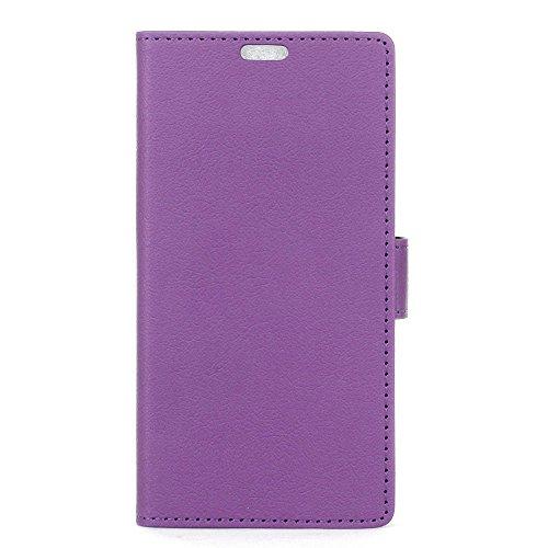 AICEDA Xiaomi Mi 6 Plus - Protective Women Wallet Leather Case/Cover / Bumper/Skin / Cushion - Fashion Art Collection (Purple) -