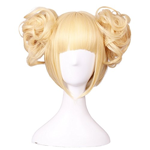 ColorGround Blonde Cosplay Wig and 2 Detachable Buns with Pins ()