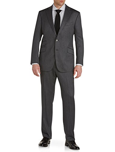 Robert Graham Big and Tall Chyandour Wool Suit Executive Cut Grey 54 REG (Designer Executive Mens Suit)