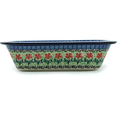 Polish Pottery Rectangular Baker 10-inch made by Ceramika Artystyczna (Maraschino)