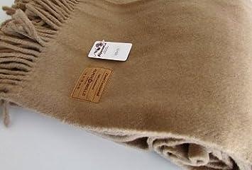 Made in Germany Wolldecke Wollplaid 130x190 Plaid Fernsehdecke Lammwolle