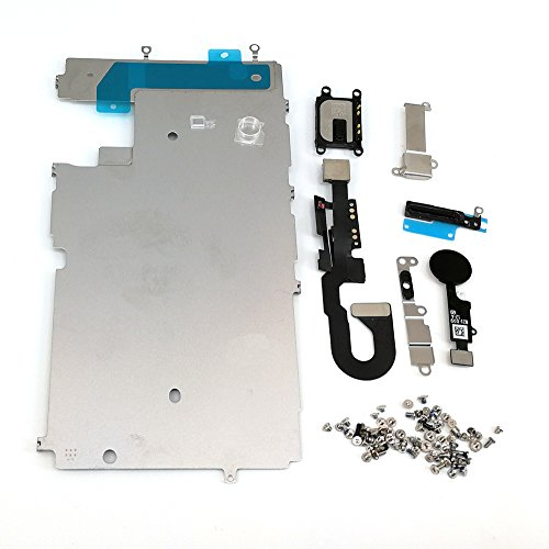 E-repair Screen Metal Bracket Front Camera Flex Cable Small Parts Set Replacement for Iphone 7 (4.7 inch) (Black)