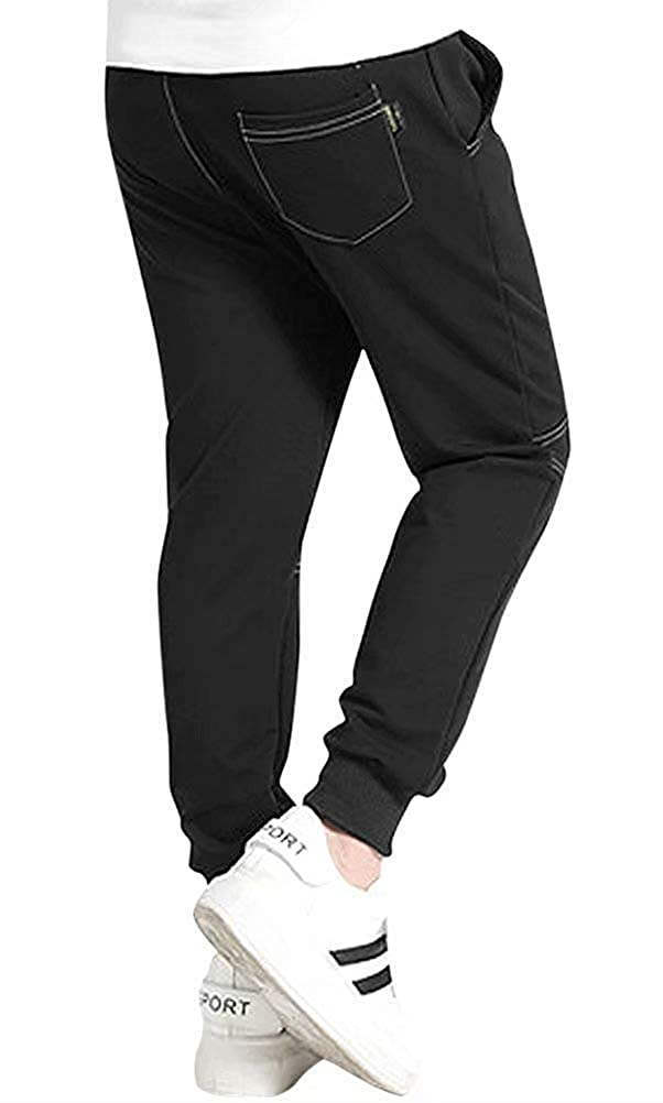 Mallimoda Boys Casual Cotton Pants Fall Sport Elastic Waist Trousers