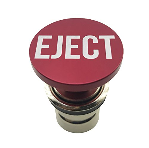 Eject Button Car Cigarette Lighter by Citadel Black - Anodized Aluminum, 12-Volt Replacement Accessory, Fits Most Vehicles, Socket Size A