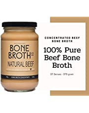 Australian Beef Bone Broth Concentrate - Natural Beef Flavor - New 375 gram Jar - Build your immune system, gut health, bone + joint strength. Great for soups, stock, beverage drink. Neutral Flavor - Made in Australia