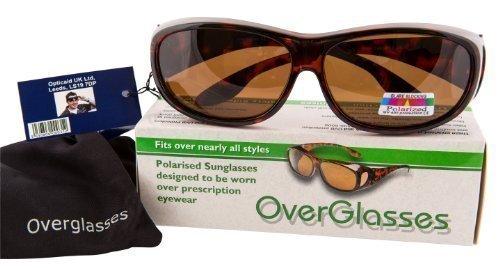 Opticaid Surlunettes à verres polarisants à porter par dessus vos lunettes correctrices pour conduite de nuit (Noir) hGWyvnV2T