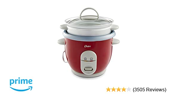 Amazon Oster 6 Cup Rice Cooker With Steamer Red 004722 000