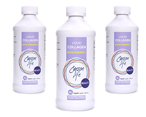 Carson Life Liquid Collagen with Vitamin C - 3 Pack (48 Ounces) - Anti-Aging - For Healthy Skin, Hair and nails ...