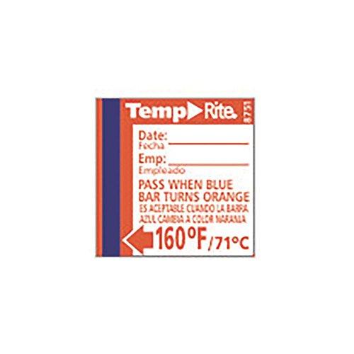 - Taylor 8751 TempRite 160°F Dishwasher Test Labels - 24 / PK