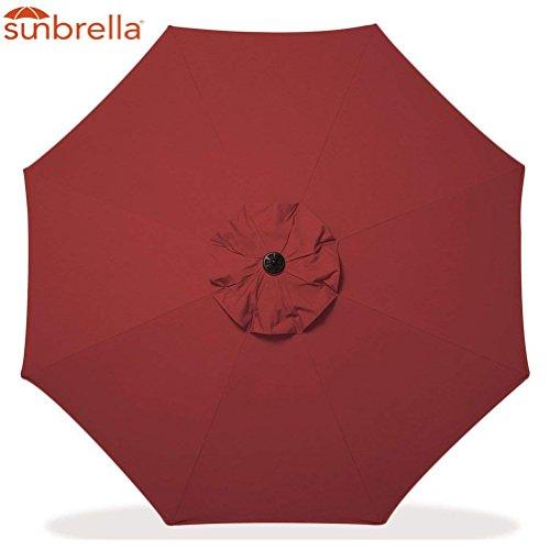 Sunbrella Patio Umbrella 9 Feet Outdoor Market Table Umbrella Replacement Umbrella Canopy for 9 ft 8 Ribs Patio Umbrella Replacement Sunbrella Market Table Outdoor Umbrella Canopy 8 Ribs (Cornell)