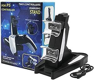 Carregador Duplo P/ 2 Controle DualSense PlayStation 5 Base Torre