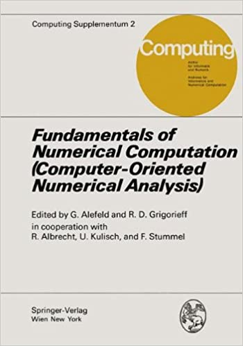numerical analysis and computation