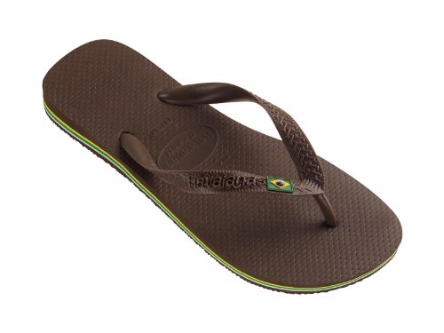 Havaianas Women's Brazil Sandal 4000032 - Brown, USA 9/10, BRA - Havaianas Brown