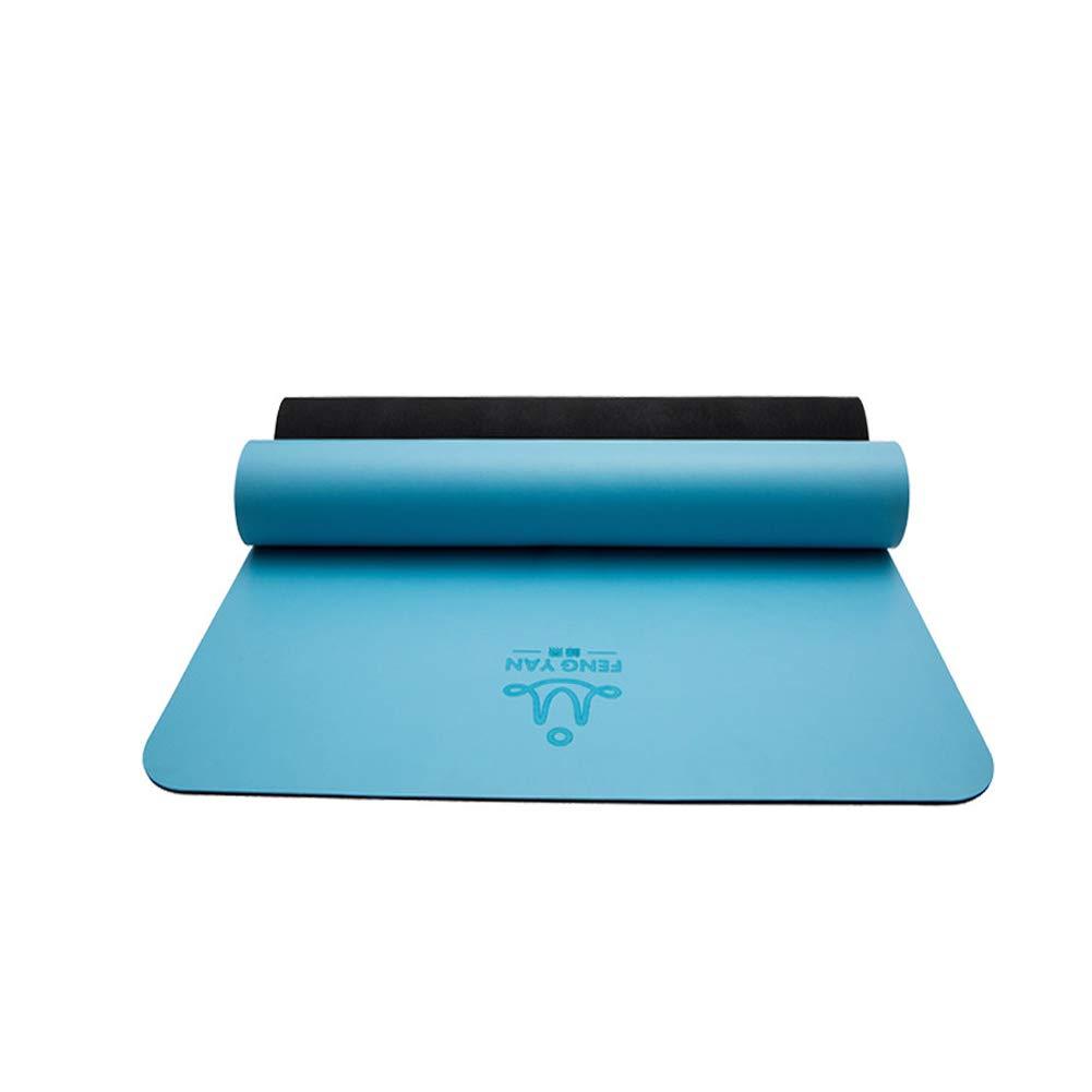 L&Y 5Mm Rutschfest Yogamatte, Gute Yoga-Matte,Rutschfest Umweltfreundlich Pilates Matte Für Gymnastik, Fitness, Mit Aufbewahrungstasche,183Cmx68cm,Schwarz