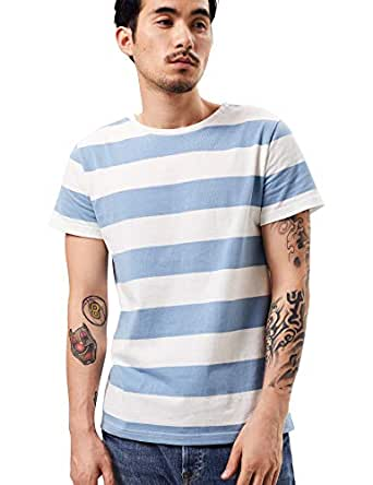 bb12227a9765 Amazon.com: Zbrandy Wide Striped T Shirt for Men Sailor Tee Red ...