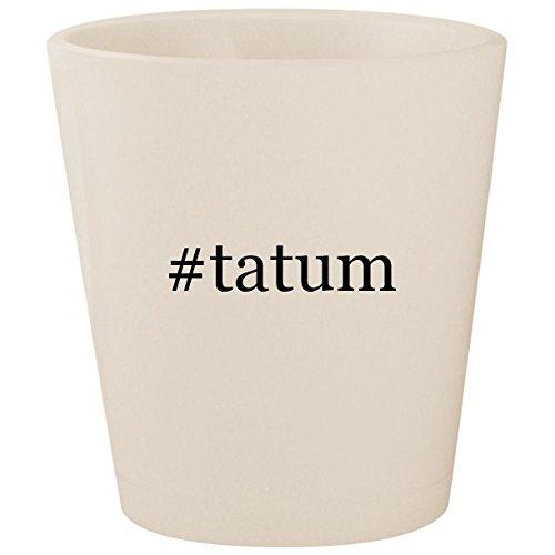 #tatum - White Hashtag Ceramic 1.5oz Shot Glass
