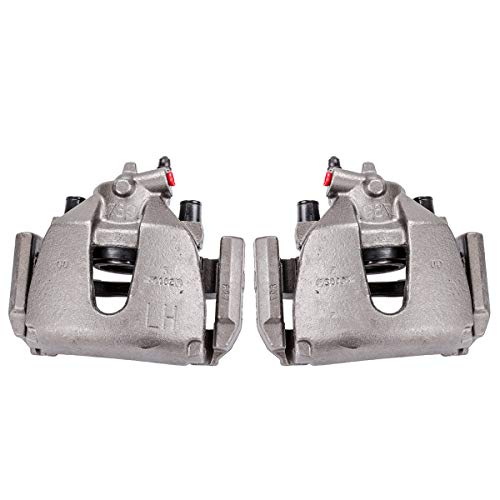 Callahan CCK04722 [2] FRONT Premium Semi-Loaded Original Brake Caliper Pair + Hardware [ for 2005 2006 2007 Ford Focus ]