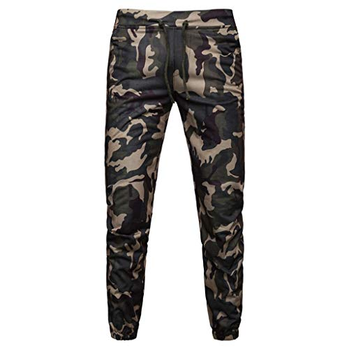 SERYU Drawstring Camo Pants Mens Casual Joggers Camouflage Pocket Trouser