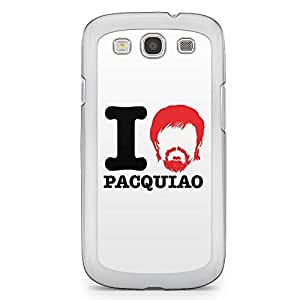 Manny Pacquiao Samsung Galaxy S3 Transparent Edge Case - I heart Pacquiao