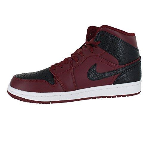 Nike Air Jordan 1 Mid, Scarpe da Basket Uomo Rosso (Team Re D Black Summit White 601)