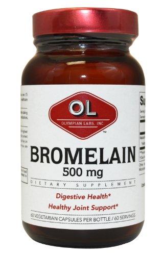 Olympian Labs broméline, 500mg, 2400 GDU / g, 60-Capsules