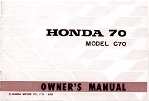 310872 1972-73 Honda C70 Owners Manual: Manufacturer: Amazon ... on