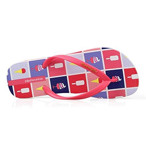 Da Piatto Estate Sandali 35 Pink Femminili Dimensioni Pantofole Scivolare Pink Scarpe colore Donna Spiaggia R0BxqnwS