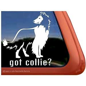 Got Collie? Rough Collie Dog Vinyl Window Decal Adhesive Stickers 20
