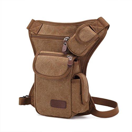Bolsa De Pierna SMARTLADY Hombre Bolso de Cintura para Deporte Aire Libre excursiones y viajes (Beige) Khaki