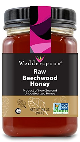 - Wedderspoon Raw Beechwood Honey, 17.6 Ounce