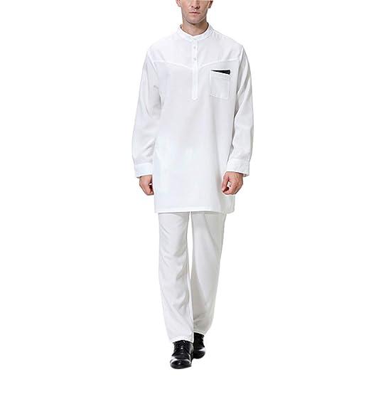 Ropa Islamica Hombre Camisa Largos - Traje Elegante Vestido Abaya ...