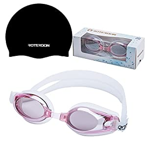 ROTERDON Swimming Goggles No Nose With Anti Fog Uv Protection Eye Mask Seal Well Top Rated Triathlon Equipment For Men Adult Kids Youth Swim In Outdoor Pool Buy From Amazon Online Swim Store (Pink)