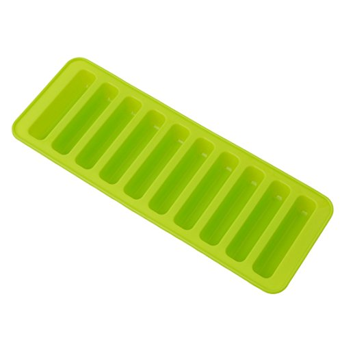 Rurah Stick Rod Ice Cubes Trays, Silicone Candy Molds,Green (Tray Sticks)