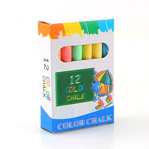 KIMME 12 pcs/Lot Dustless Chalk Pen Drawing Chalks For Blackboard 6 Colors Stationary Office School Supplies Accessories tizas escolar
