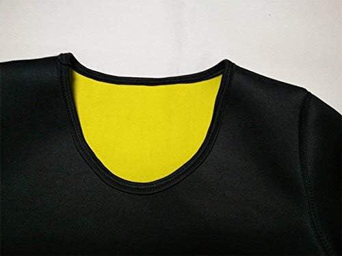 NOVECASA Sauna T-Shirts Homme N/éopr/ène Body Shaper Chemise pour Br/ûler Graisses Abdominaux Minceur Gym Musculation