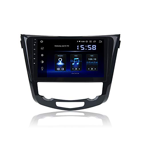 Dasaita 10 inch Large Screen Single Din Android 9.0 Car Stereo for Nissan X-Trail Rogue 2014 2015 2016 2017 2018 Radio with GPS Navigation 4G Ram 64G ROM Built in DSP Dash Kit GPS Meomery Card