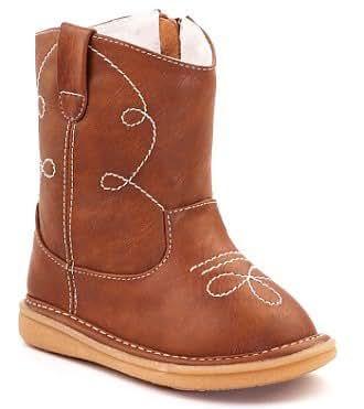 Wee Squeak, Unisex, Cowboy Boot, Brown size 10