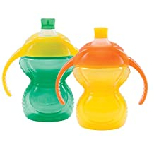 Munchkin Click Lock Bite Proof Trainer Cup, Green/Yellow, 7 Ounce, 2 Count