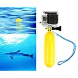 iDaye Waterproof Floating Hand Grip/ Floating Handle Tripod/ Floating Camera/ Pole Mount for Gopro Hero 1/2/3/3+ Hero 4, Includes Thumb Screw and Adjustable Wrist Strap(Yellow)