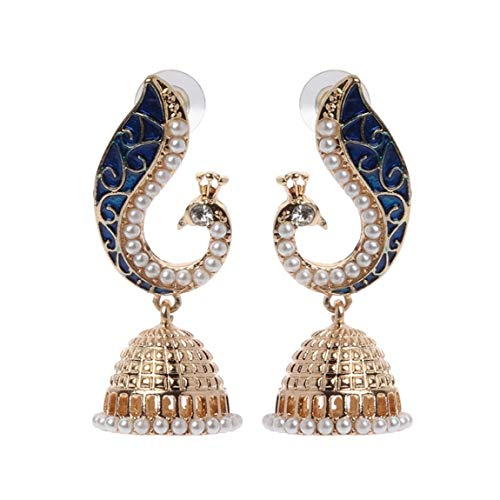 Weiy Bohemian Ethnic Style Indian Peacock Pendant Drop Earrings Fashion Vintage Charming Elegant Stud Earrings Jewelry Gift for Women Girl