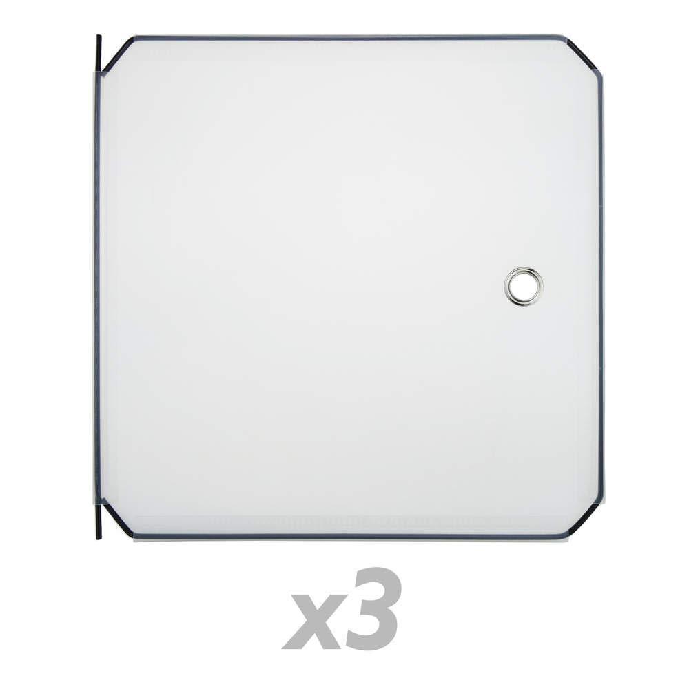 PrimeMatik - 3-Pack 35x35cm weiß Türen für kubische modulare Schrank Veranstalter PrimeMatik.com