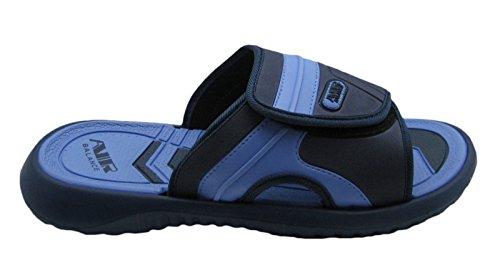 Cinturino Regolabile In Aria Comoda Scarpetta Da Spiaggia Con Sandalo In Colori Di Classe Per Uomo Navy / Lt.blue