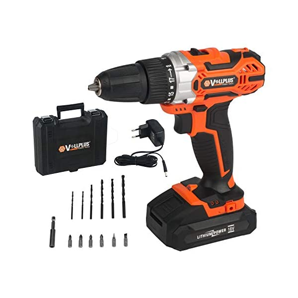 Vollplus 18V Lithium-ion Cordless Drill